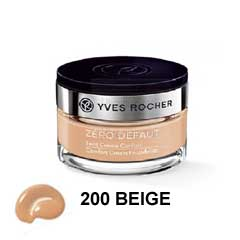 Yves Rocher Confort Cream Foundation Beige N200 کرمپودر کاسهای ایوروشه بژ روشن ۲۰۰