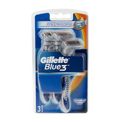 دستگاه مدل بلو ۳ بسته ۳ عددی ژیلت Gillette Blue 3 Blades Pack of 3