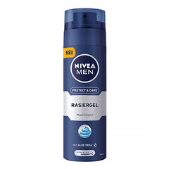 ژل اصلاح مردانه نیوا مدل Protect And Care حجم ۲۰۰ میلی لیتر Nivea Protect And Care Shaving Gel For Men-200 ml