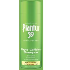 شامپو کافئین پلانتور ۳۹ مخصوص موهای رنگ شده، خشک و آسیب دیده Plantur 39 Phyto-caffine shampoo
