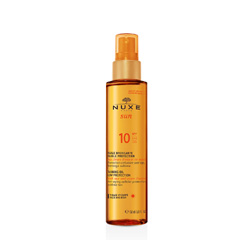 NUXE SUN Tanning Oil for Face and Body SPF10 روغن برنزه با آفتاب SPF10 نوکس