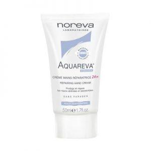 کرم دست آکواروا نوروا Aquareva 24H repairing hand cream