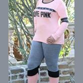 بلوز شلوار ترکیبی LOVE PINK کد P-216