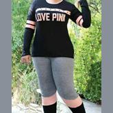 بلوز شلوار ترکیبی LOVE PINK کد BL-211