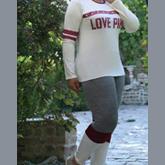 بلوز شلوار ترکیبی LOVE PINK کد W-212